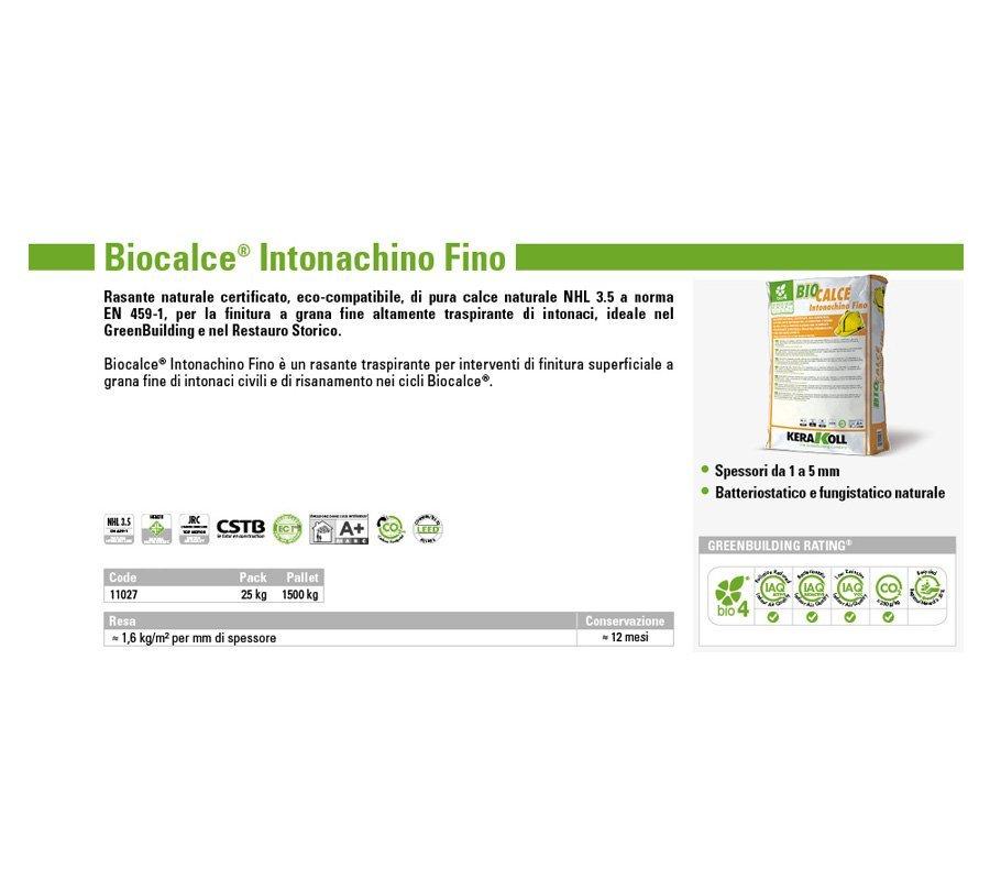 KERAKOLL BIOCALCE INTONACHINO FINO - GPM Materiali Edili
