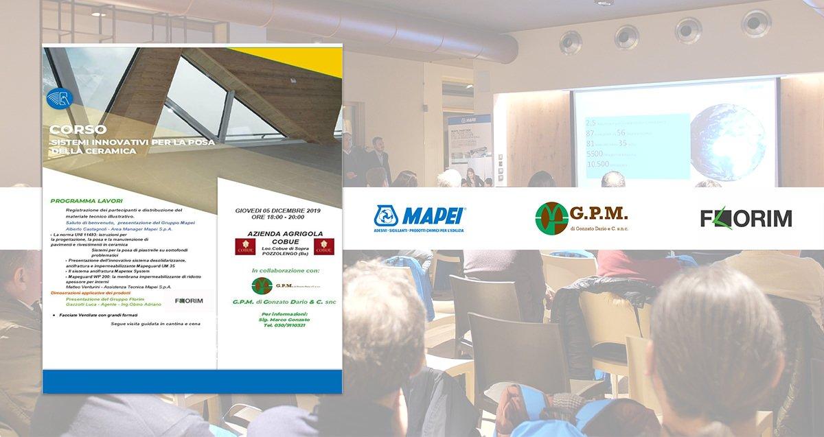 Corso GPM Sistemi innovativi per la posa della ceramica